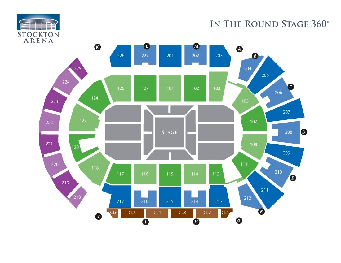Stockton Arena -  In the Round - 360 Stage